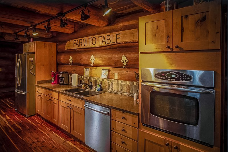 Comfortable kitchen space inside this Indiana VRBO