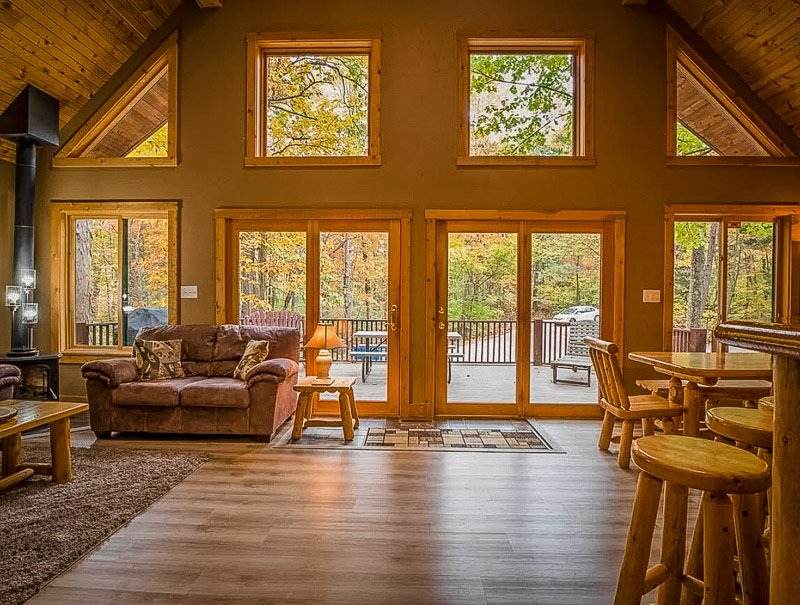 A cabin rental in IN like no other