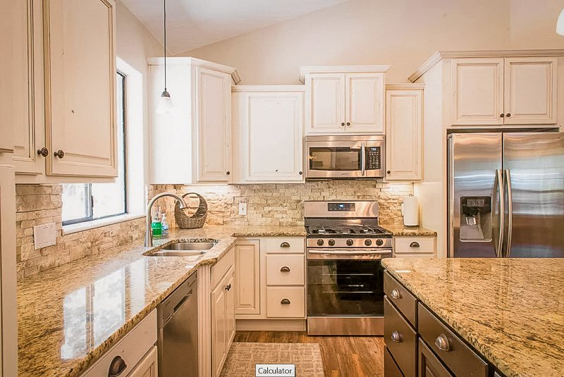 Fully equipped kitchen inside this UT vacation rental