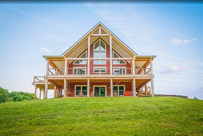 A-frame style accommodation for rent in OH