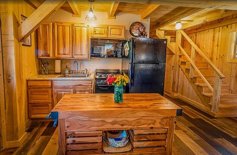 Rustic kitchen area