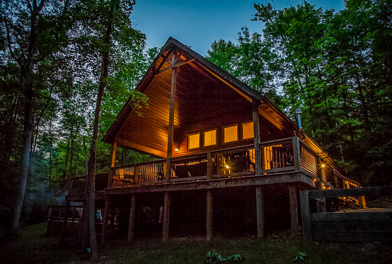 One of the top Ohio cabin rentals with hot tubs