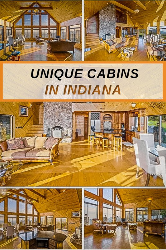 Most unique cabins to rent in Indiana for visitors of the midwest.