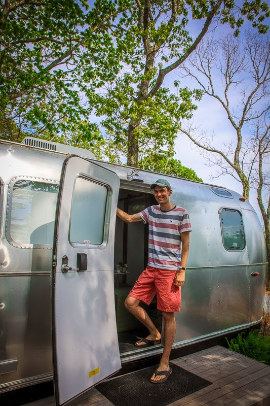 Staying in a luxury airstream is a surreal experience!