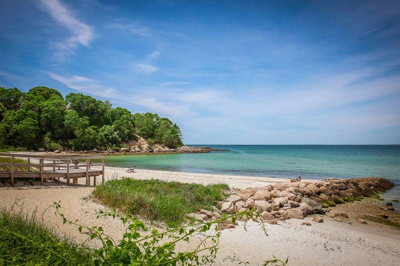 Old Silver Beach in Falmouth, Cape Cod feels like a Caribbean paradise