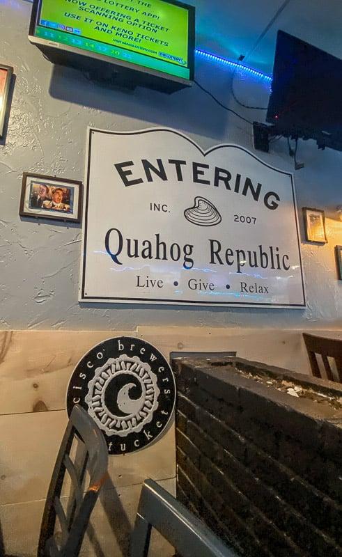 Quahog Republic has a relaxing local vibe.