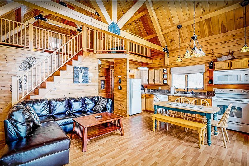 This Maine lake cabin has everything you could ever want in a vacation home