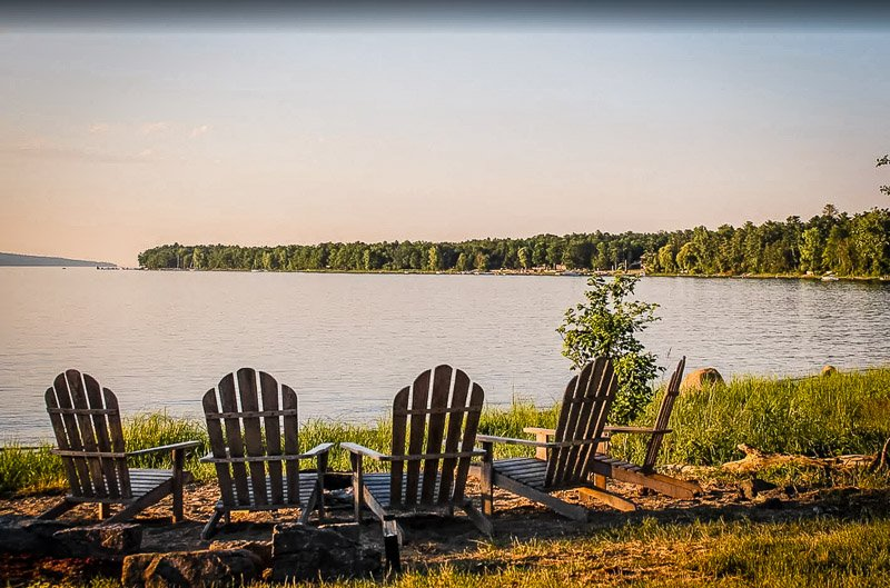 Stunning views of the lake front this NY lakefront cottage