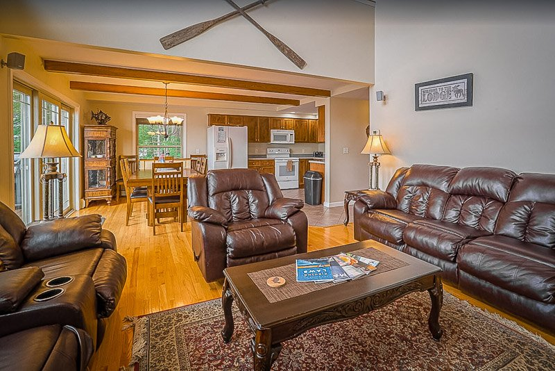 Comfortable living room and dining areas