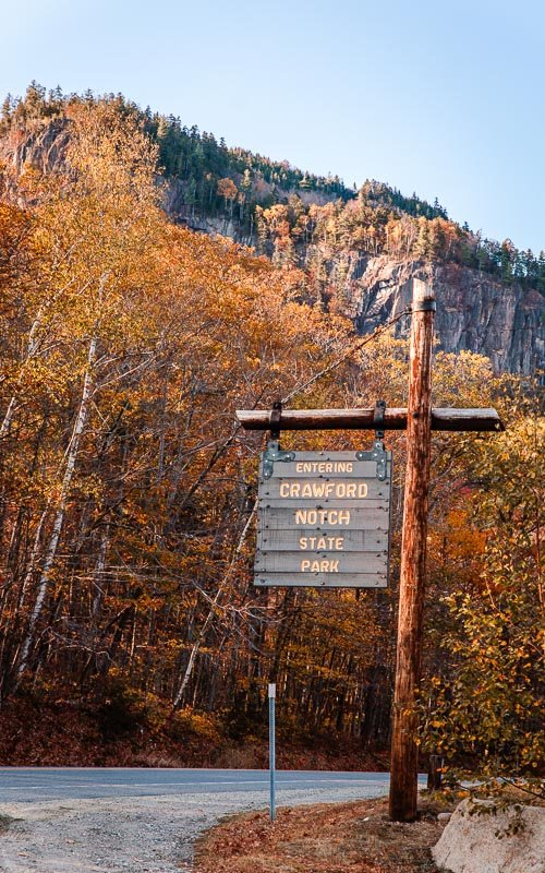Crawford Notch State Park is one of the coolest New England fall destinations for hikers.