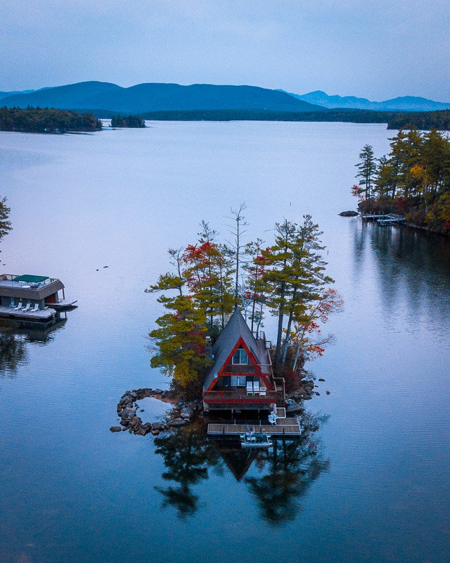Visiting Lake Winnipesaukee is one of the top things to do in New England in the fall.