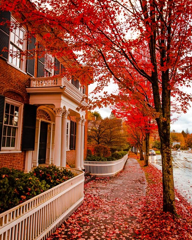 Maple trees bring a special flavor to one of the best New England towns to visit in fall.