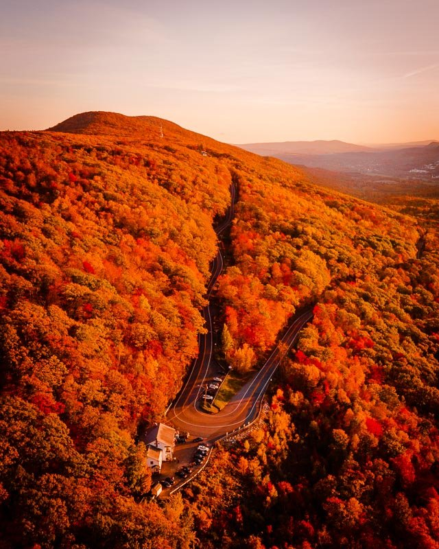 The Mohawk Trail in the Berkshires is home to jaw-dropping fall foliage scenery.