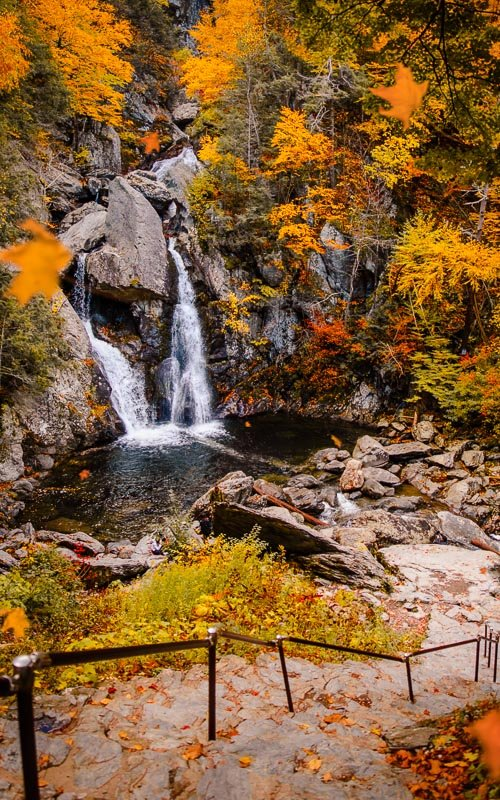 Bash Bish Falls is a must-see place to visit in New England in the fall.