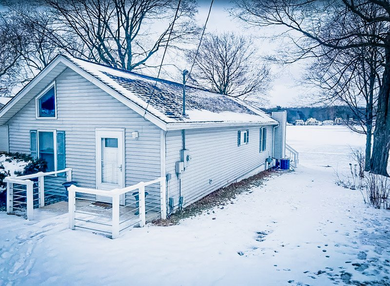 Even in the snow, this Michigan beach rental is picturesque