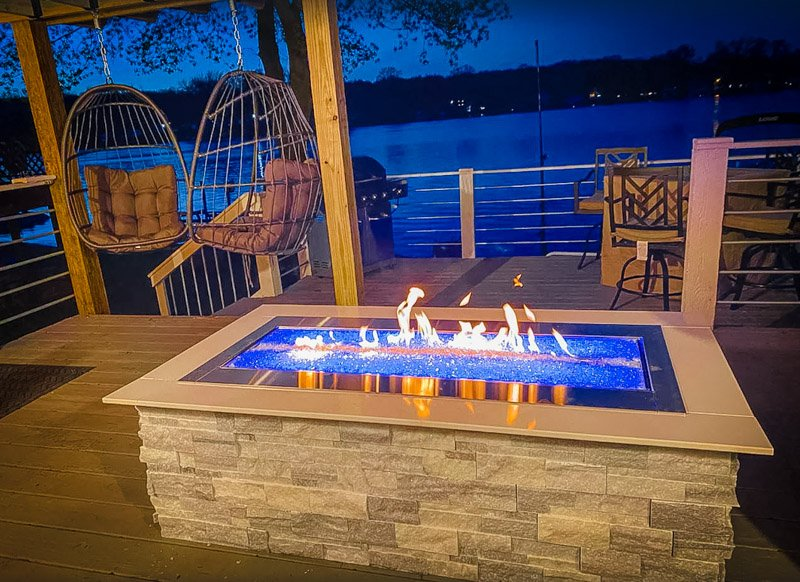 An outdoor fireplace that is sure to impress