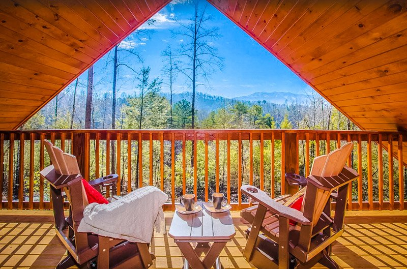 Breathe in the fresh air of this Pigeon Forge mountain cabin rental.