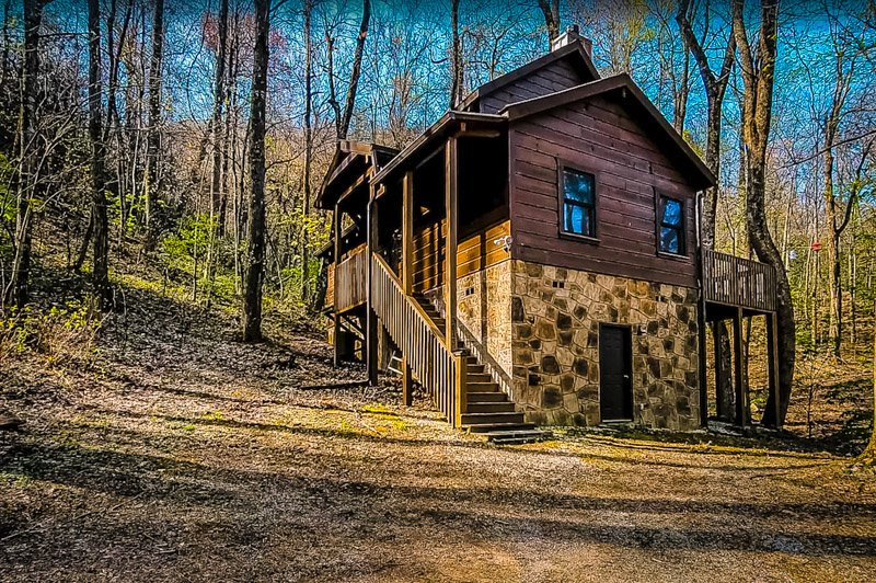 This Tennessee getaway is located in the Smoky Mountains.