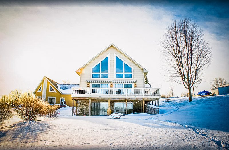 Even in winter, this is one of the top Michigan lakefront rentals