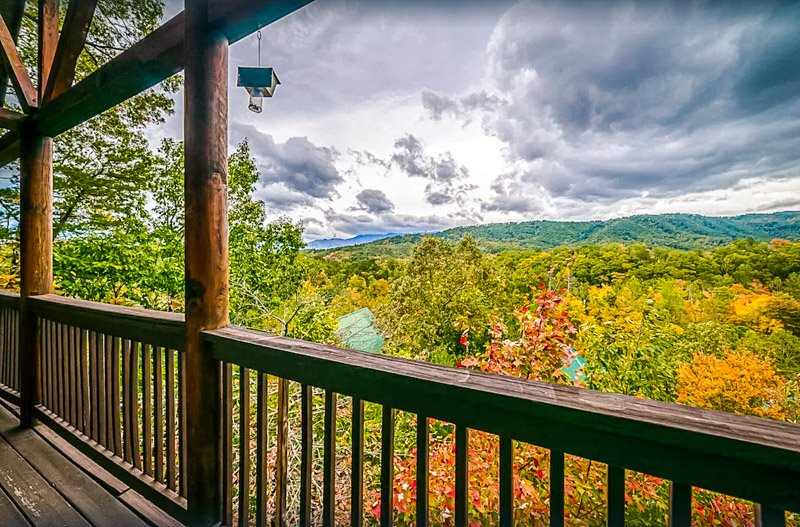 Enjoy the gorgeous scenery at this Pigeon Forge rental.