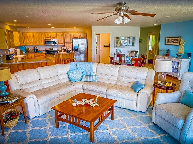 The living room is a perfect blend of comfort and style