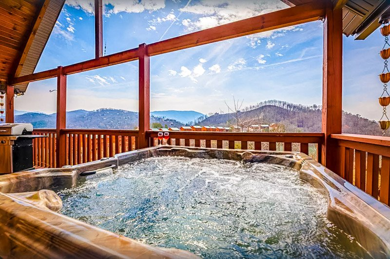 Beautiful mountain views from this Tennessee resort rental.