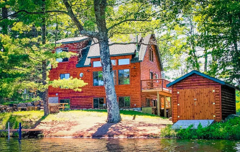 sunny view of the wisconsin lake house