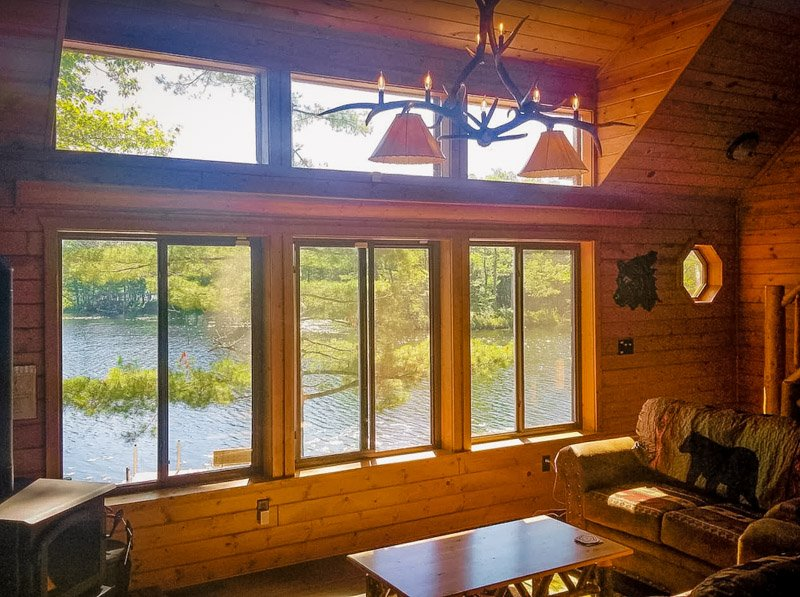 inside view of the wisconsin lake house